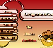 Congratulations You're Work Has Won A Challenge Banner in The Human Condition Group! by EnchantedDreams