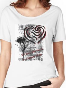 What Love Is ? Abstract Design Women's Relaxed Fit T-Shirt