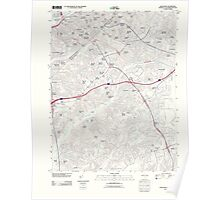 USGS Topo Map District of Columbia DC Anacostia 20110621 TM Poster