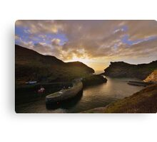 Cornwall: Last Light at Boscastle Harbour Canvas Print