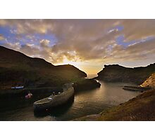Cornwall: Last Light at Boscastle Harbour Photographic Print