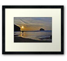 Cornwall: November Illumination Framed Print