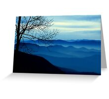Blue Ridge redux Greeting Card