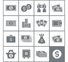 Icon business Photographic Print