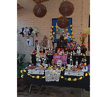 Altar for the dead persons at All Souls' Day Photographic Print