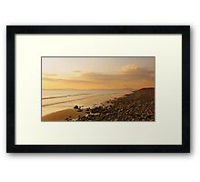 Over the Irish sea..... Framed Print
