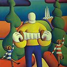Box player with dancers by Alan Kenny