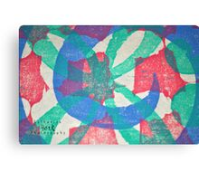 Printmaking Blue & Pink Canvas Print