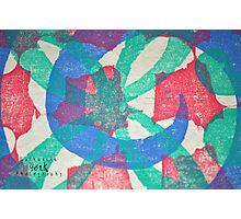 Printmaking Blue & Pink Photographic Print