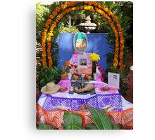Another altar in a little hotel in Puerto Vallarta - All Souls' day Canvas Print