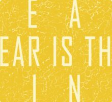 The Litany Against Fear Sticker