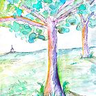 Steeple Watercolor by katyork17