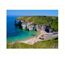 Flamborough, North Landing, Yorkshire Art Print