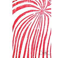 Red Stripped Lady- Printmaking Photographic Print