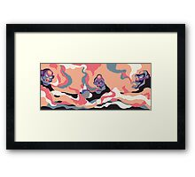 Smoking Apes Version 01 Framed Print