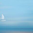 White Sails in a Blue Mist by Ann Garrett