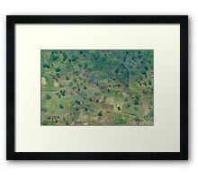 Looking Down on South Sudan Framed Print