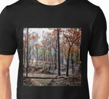 Smoky landscape after a fire Unisex T-Shirt