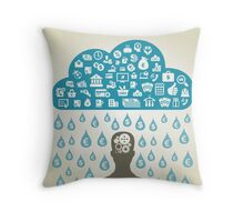 Person business3 Throw Pillow