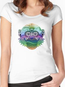 MONKEY COLLECTION DEGRADE RAINBOW Women's Fitted Scoop T-Shirt