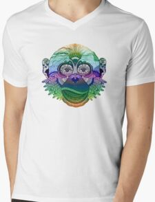MONKEY COLLECTION DEGRADE RAINBOW Mens V-Neck T-Shirt