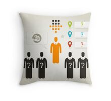 Person business4 Throw Pillow