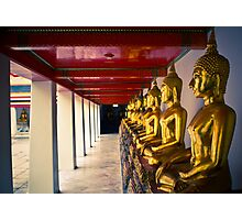 Line of Buddha Images Photographic Print