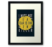 Dune - The Litany Against Fear (White) Framed Print