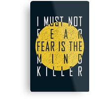 Dune - The Litany Against Fear (White) Metal Print