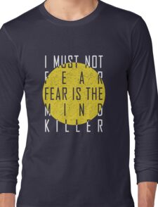 Dune - The Litany Against Fear (White) Long Sleeve T-Shirt