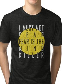 Dune - The Litany Against Fear (White) Tri-blend T-Shirt