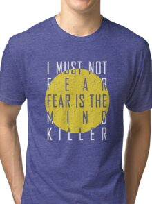 Dune - The Litany Against Fear (White) Tri-blend T-Shirt