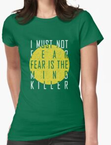 Dune - The Litany Against Fear (White) Womens Fitted T-Shirt
