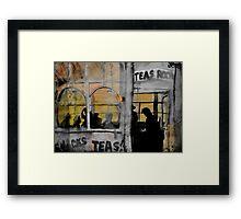 the tea room Framed Print