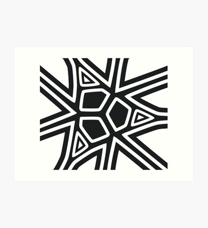 Black and white geometric art Art Print