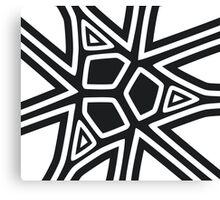 Black and white geometric art Canvas Print