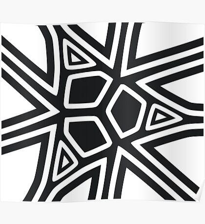 Black and white geometric art Poster