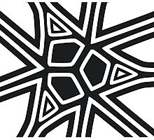 Black and white geometric art Photographic Print