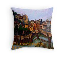 Wacky Florence, Italy Throw Pillow