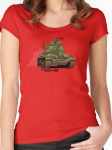 The Dogs of War: T34 Women's Fitted Scoop T-Shirt