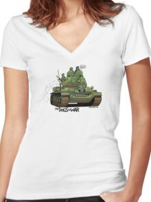 The Dogs of War: T34 Women's Fitted V-Neck T-Shirt