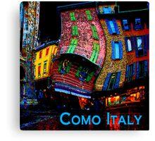 Wacky Como, Italy Canvas Print