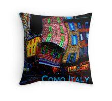 Wacky Como, Italy Throw Pillow