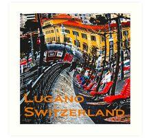Wacky Lugano, Switzerland Art Print