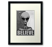 Believe (black/white version) Framed Print