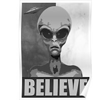 Believe (black/white version) Poster