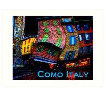 Wacky Como, italy Art Print