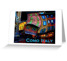Wacky Como, italy Greeting Card
