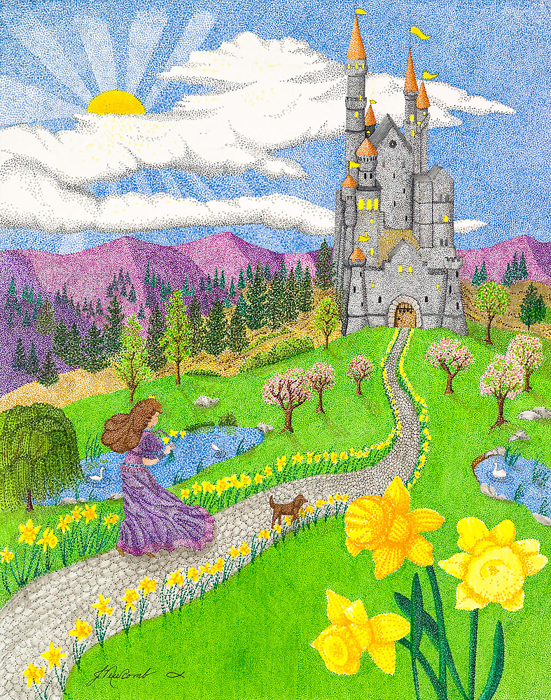 Daffodil Lane by Judy Newcomb