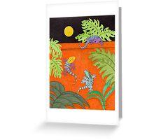 Moon Over My Geckos Greeting Card